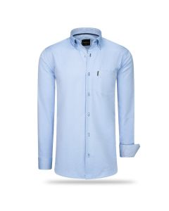 Cappuccino Italia Regular Fit Overhemd Baby Blue