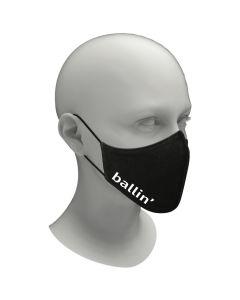 Ballin' Wasbaar Mondkapje Unisex - Zwart/Wit