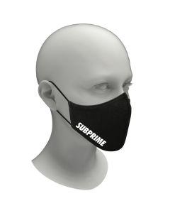 Subprime Wasbaar Mondkapje Unisex - Zwart/Wit