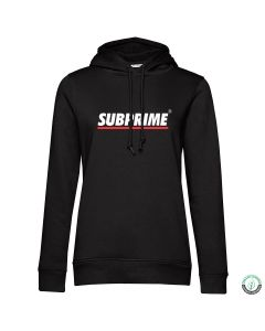 Subprime Wmn Hood Stripe Black