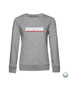 Subprime Wmn Sweat Stripe Grey