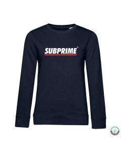 Subprime Wmn Sweat Stripe Navy