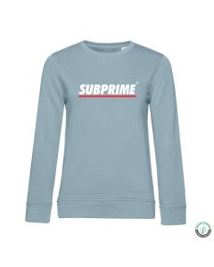 Subprime Wmn Sweat Stripe Sky Blue