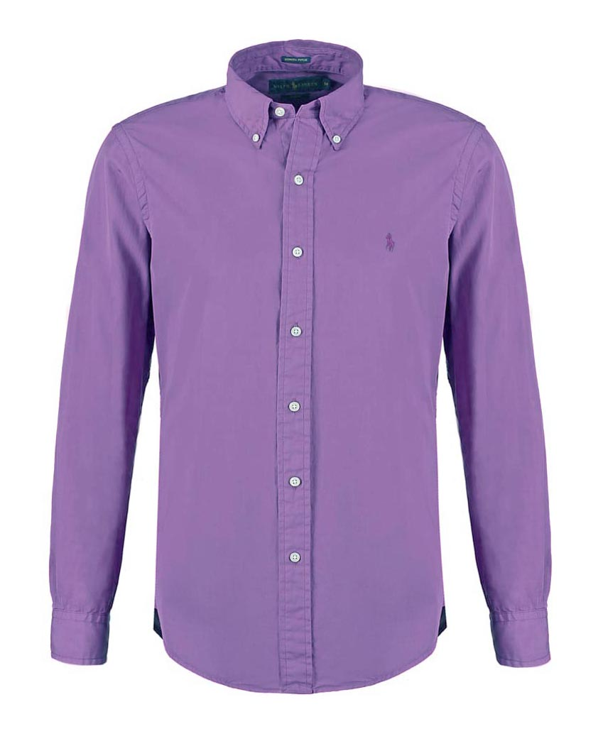 Polo Ralph Lauren - Poplin Slim Fit Shirt Purple Martin